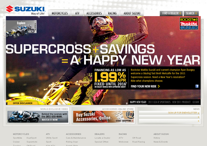 Questus: Suzuki Cycles Homepage